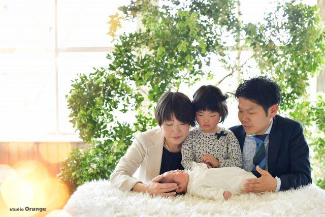 お宮参り 男の子 家族写真 幸せ