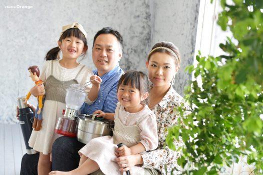 家族写真 自然光 ハウススタジオ 姉妹