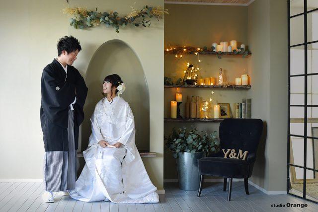 和装 ウェディング 写真だけの結婚式 白無垢 奈良市 フォトスタジオ ハウススタジオ
