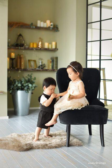 バースデーフォト 1歳 男の子 家族写真