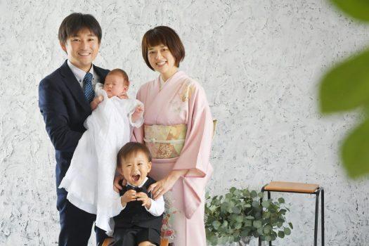 初宮参り 一ヶ月男の子 奈良市 写真館