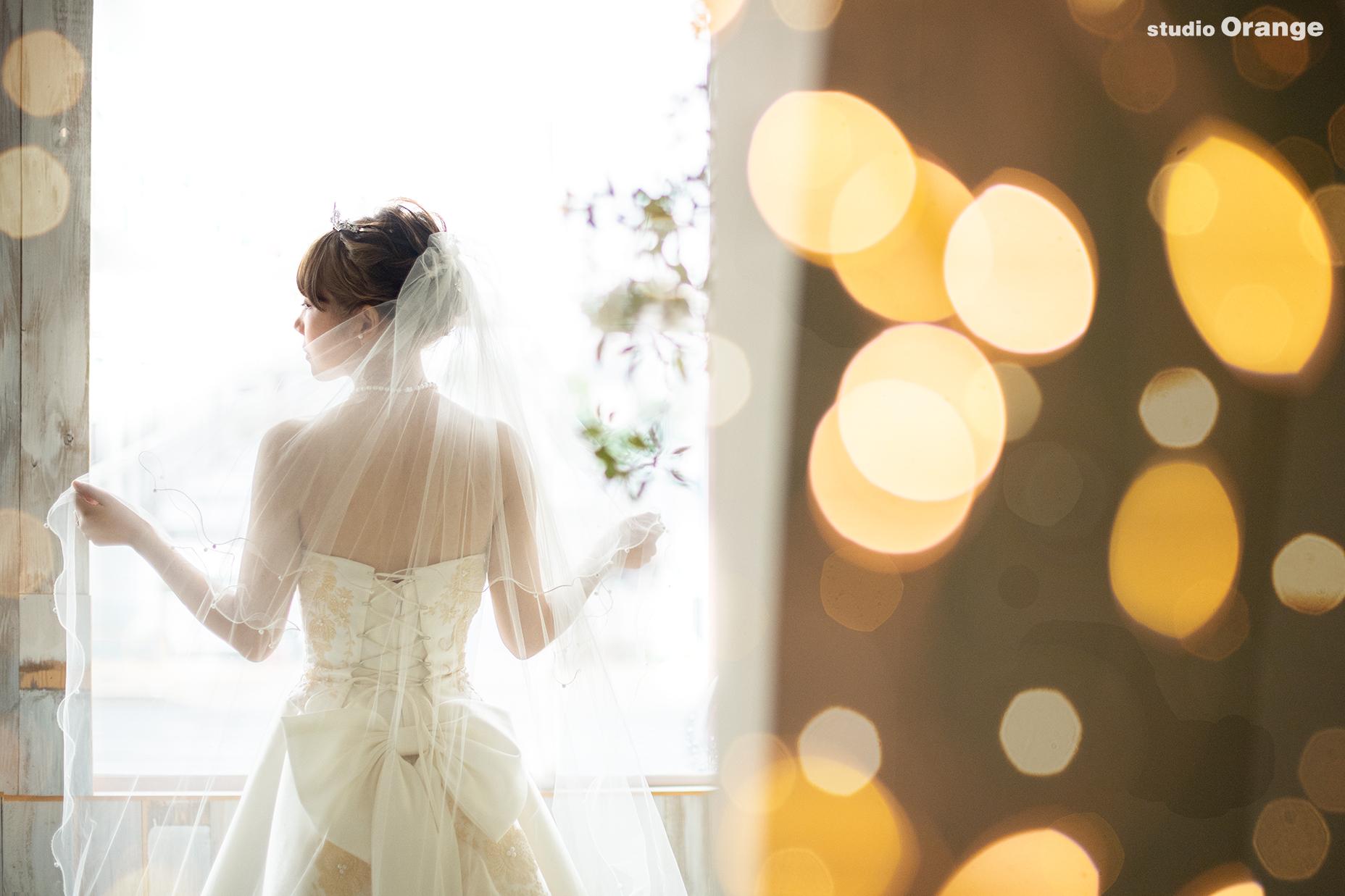 ウェディングフォト 新婦 ヴェール ウェディングドレス