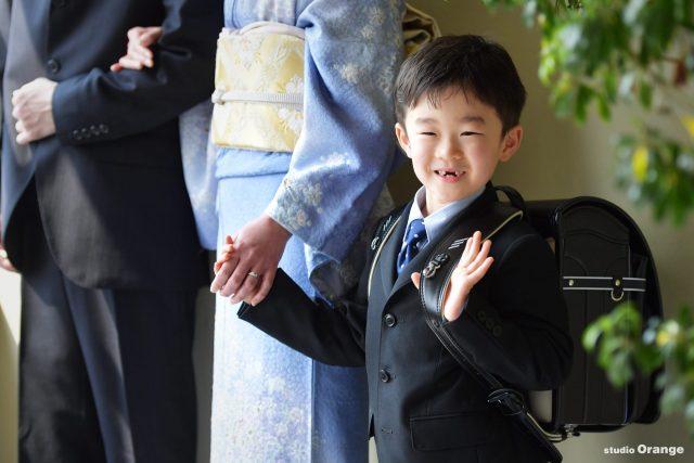 家族写真 訪問着 入学 小学校入学