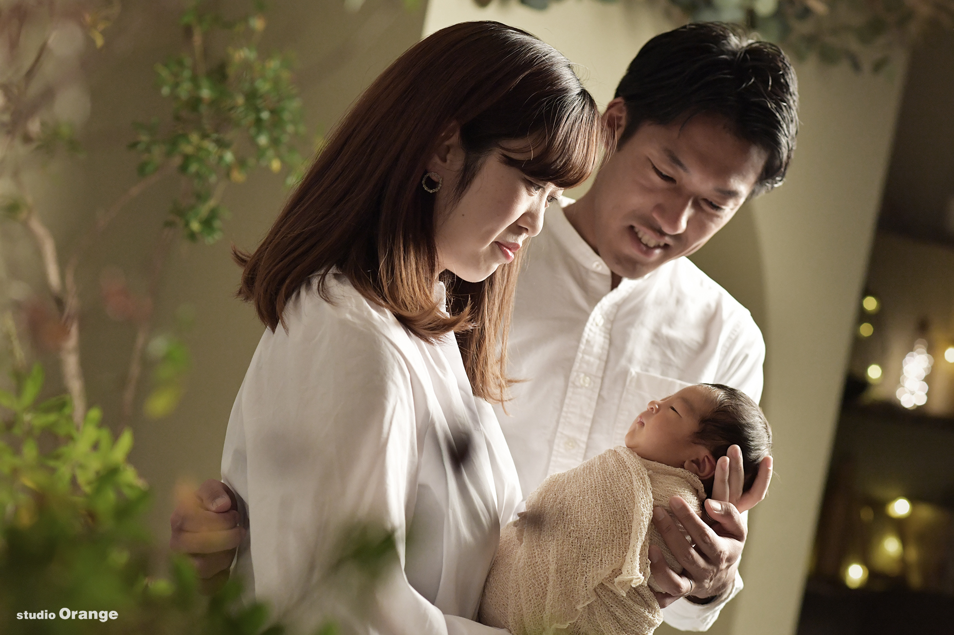 ニューボーンフォト 家族撮影 新生児フォト 生後10日