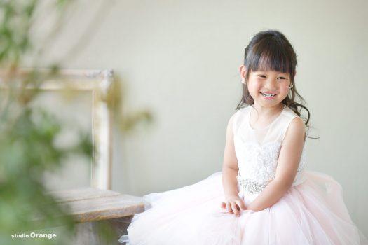 ピンクのドレス お誕生日撮影 女の子