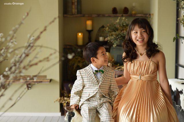 姉弟撮影 5歳七五三 ドレス タキシード