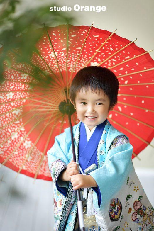 七五三 春日大社 スタジオオレンジ 奈良市写真館 和服 5歳 お参り
