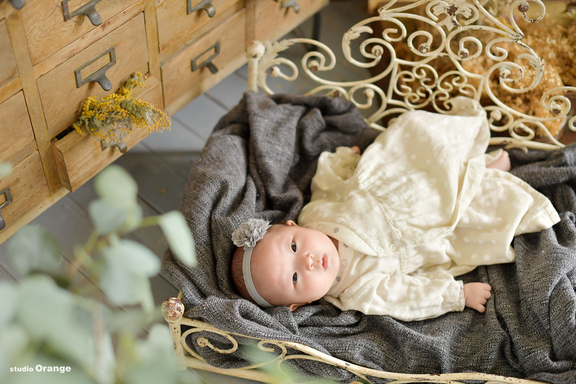 マタニティ お宮参り 初宮参り 家族写真 3ヶ月女の子