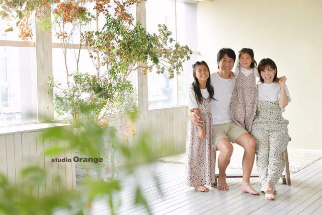 奈良市 写真館 フォトスタジオ 家族撮影 リンクコーデ 結婚記念 結婚