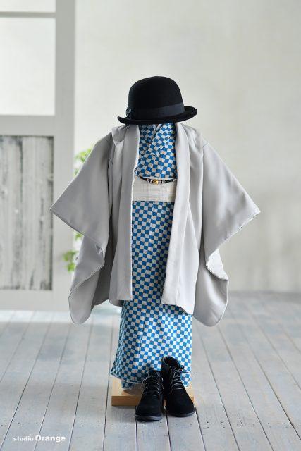 新作衣装 青い着流し 着物