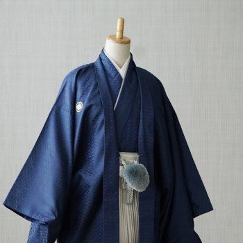 レンタル袴 男性成人 ネイビーの袴