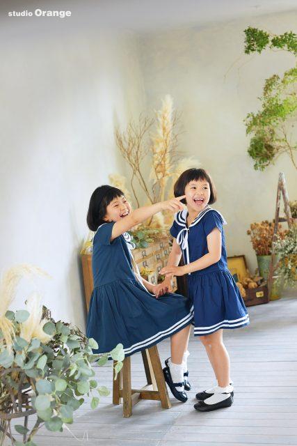 バースデー 誕生日 10歳女の子 姉妹 奈良 写真館