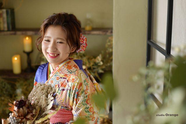 成人 成人式 奈良 スタジオ 着物 振袖 20歳 ハタチ 二十歳 ママ振り