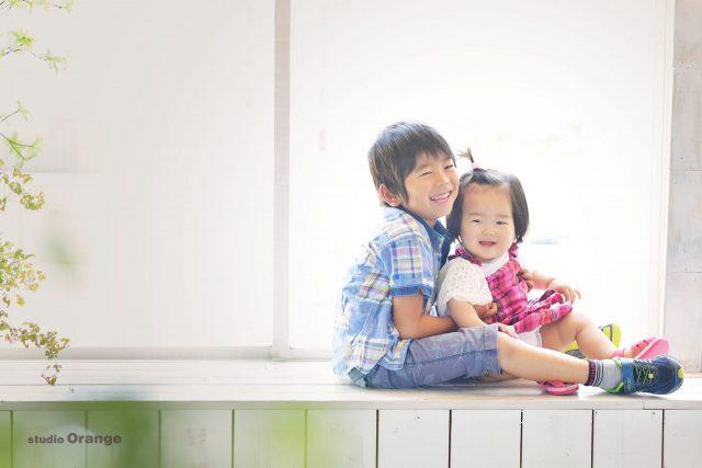 お誕生日撮影 兄弟撮影 バースデー写真 奈良市写真スタジオ 奈良県写真スタジオ スタジオオレンジ