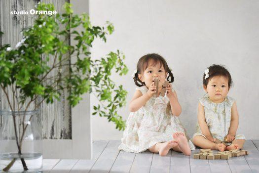 お誕生日撮影 バースデー撮影 兄弟撮影 奈良県写真館 奈良市写真館 スタジオオレンジ