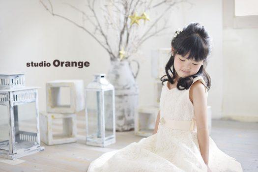 奈良 写真館 お誕生日記念 バースデーフォト 女の子 白 ドレス
