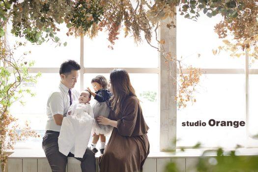 奈良 写真館 お宮参り 赤ちゃん 家族撮影 家族写真