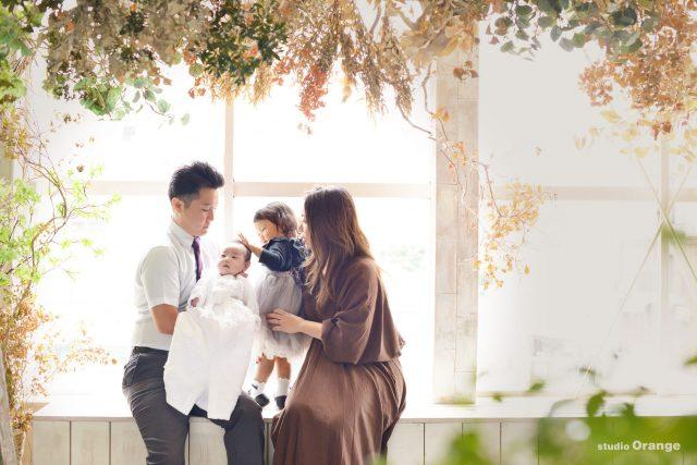 お宮参り 初参り 家族撮影 ファミリーフォト