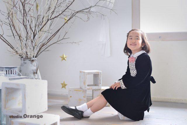 七五三 ドレス撮影 フォーマルドレス 女の子 春日大社 生駒神社 奈良県写真館 奈良市写真館 スタジオオレンジ