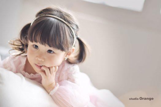 お誕生日撮影 バースデー撮影 女の子 ドレス 奈良市写真館 奈良県写真館 スタジオオレンジ