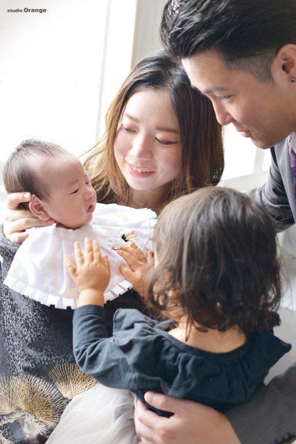 奈良市中町 お宮参り 初宮参り 2歳お姉ちゃん 家族写真
