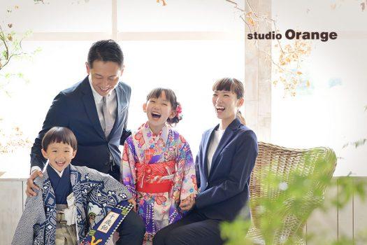 奈良 写真館 七五三 家族撮影
