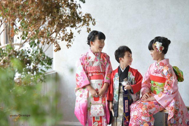 七五三 753 着物 袴 5歳男の子 7歳女の子 可愛い かっこいい 10歳 姉弟 奈良 スタジオ 奈良スタジオ