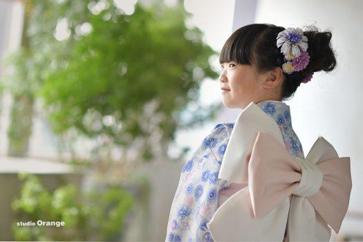 七五三 ドレス 奈良 写真館 紫着物