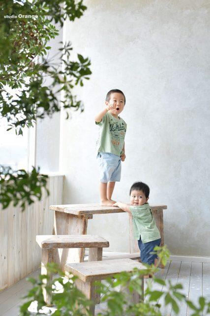 誕生日 バースデー 男の子 1歳 兄弟 奈良 写真館 フォトスタジオ