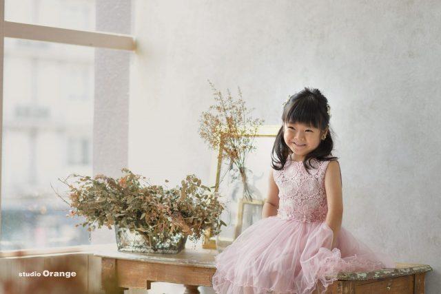 5歳 奈良 フォトスタジオ 写真館 お誕生日 ドレス 女の子