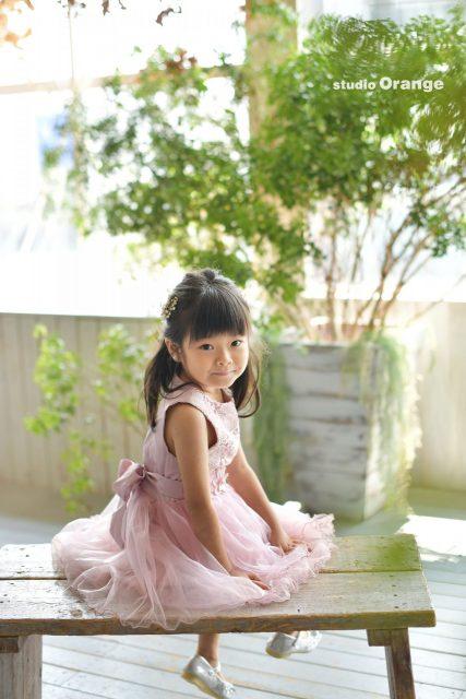 奈良 写真館 ドレス 5歳 女の子 バースデー お誕生日