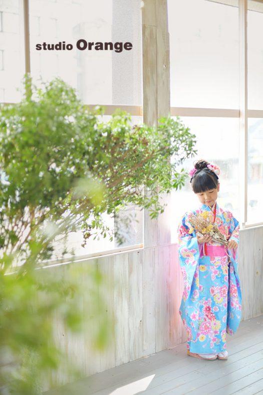七五三 七歳 女の子 奈良 写真館 フォトスタジオ 着物