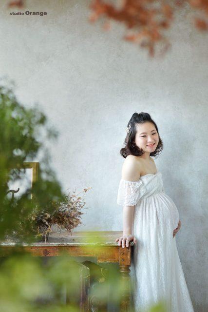 マタニティ パパ ママ 新婚 ドレス 赤ちゃん 奈良 写真館 フォトスタジオ