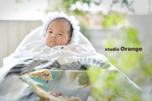 奈良 写真館 お宮参り 産着 男の子
