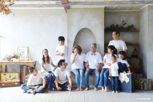 家族撮影 親族一同 大集合 スタジオオレンジ