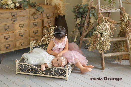 奈良 写真館 ドレス 赤ちゃん 姉妹