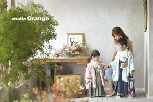奈良 写真館 七五三 家族撮影 袴 オリジナル着物