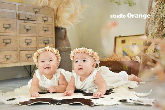 奈良 写真館 双子 赤ちゃん