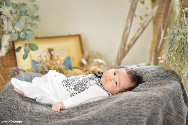 お宮参り ベビータキシード 生後3ヶ月 男の子