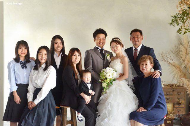 婚礼写真 フォトウェディング ウェディングフォト ウェディングドレス カラードレス 家族撮影 家族写真