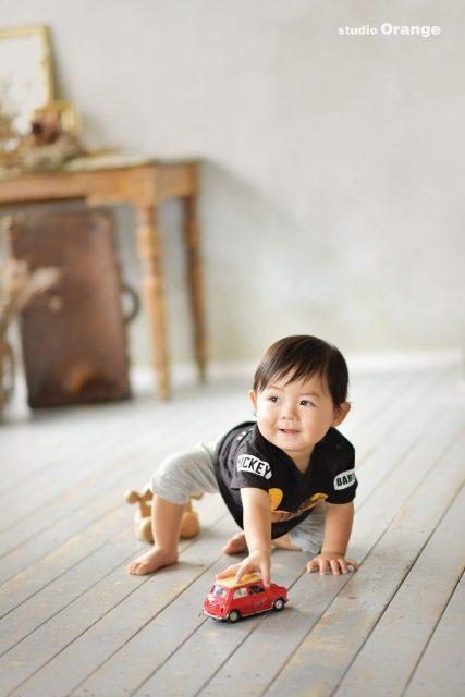 お誕生日 バースデー 男の子 1歳 写真館 奈良 フォトスタジオ
