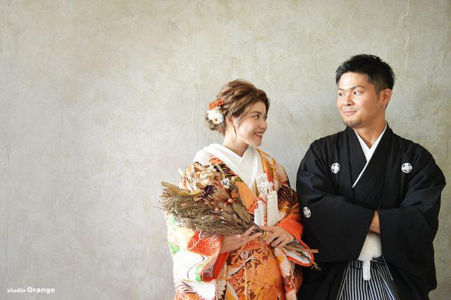 婚礼写真 フォトウェディング ウェディングフォト 色打掛 白無垢