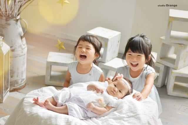 誕生日 バースデー 女の子 奈良 写真館 姉妹 ドレス