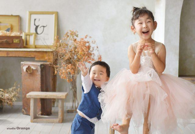 お誕生日 バースデー 奈良 写真館 フォトスタジオ ドレス