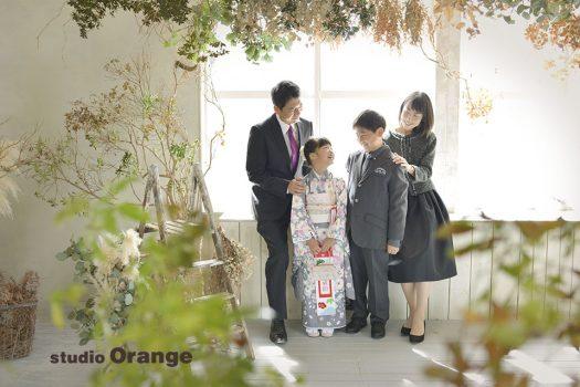 奈良 写真館 七五三 家族撮影 着物