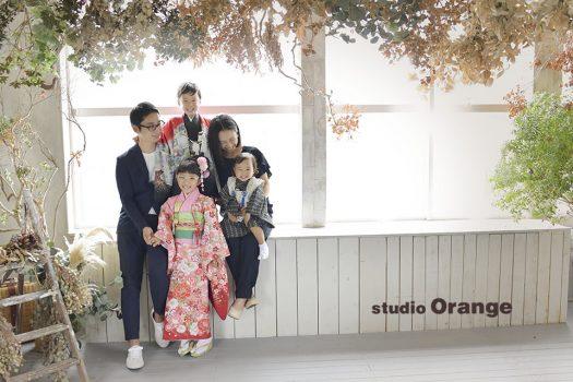 奈良 写真館 七五三 着物 袴 家族