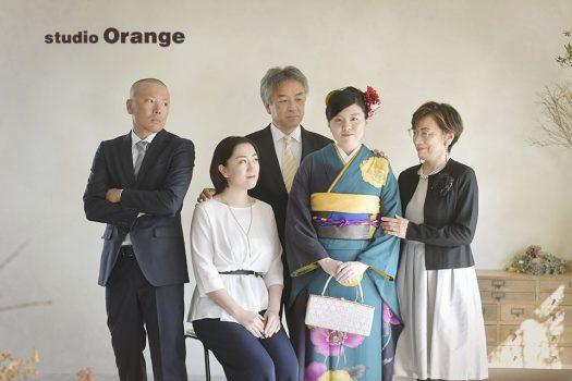 奈良 写真館 成人式 着物 家族