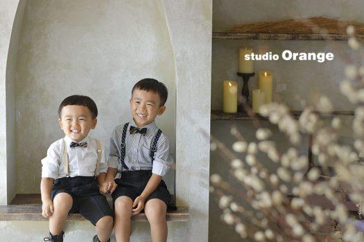 奈良 写真館 お誕生日 兄弟 スーツ