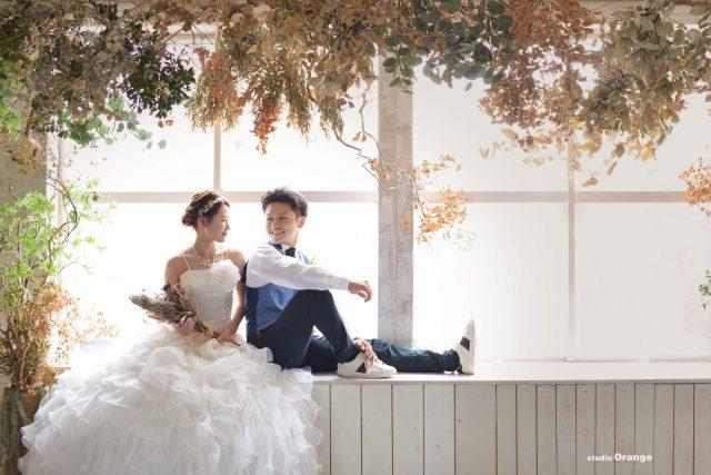 ウェディング 2ショット 白ドレス タキシード