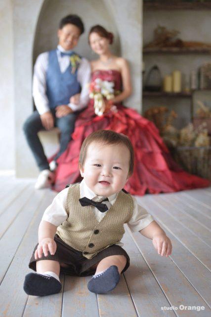 赤ちゃん ウェディング 家族撮影 タキシード